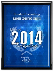 Ponder Consulting Receives 2014 Best of Grayling Award