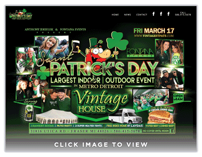 Vintage House St. Patricks Day
